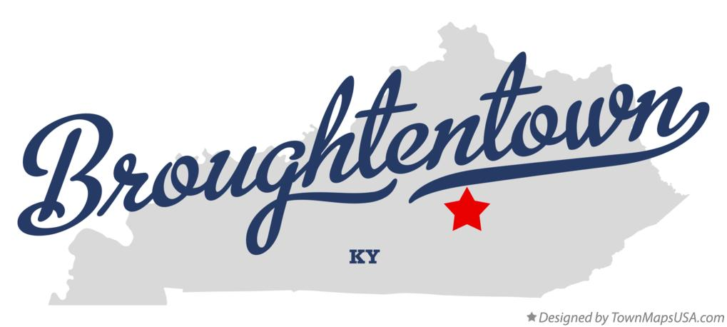 Map of Broughtentown Kentucky KY