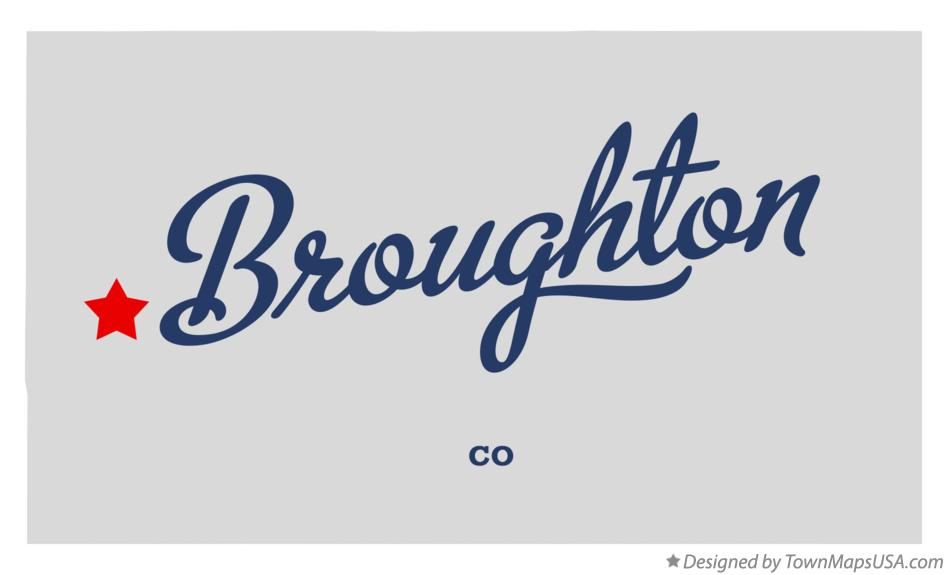 Map of Broughton Colorado CO