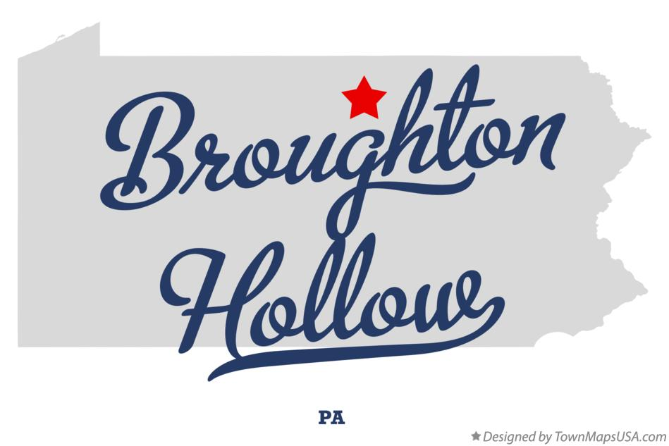 Map of Broughton Hollow Pennsylvania PA