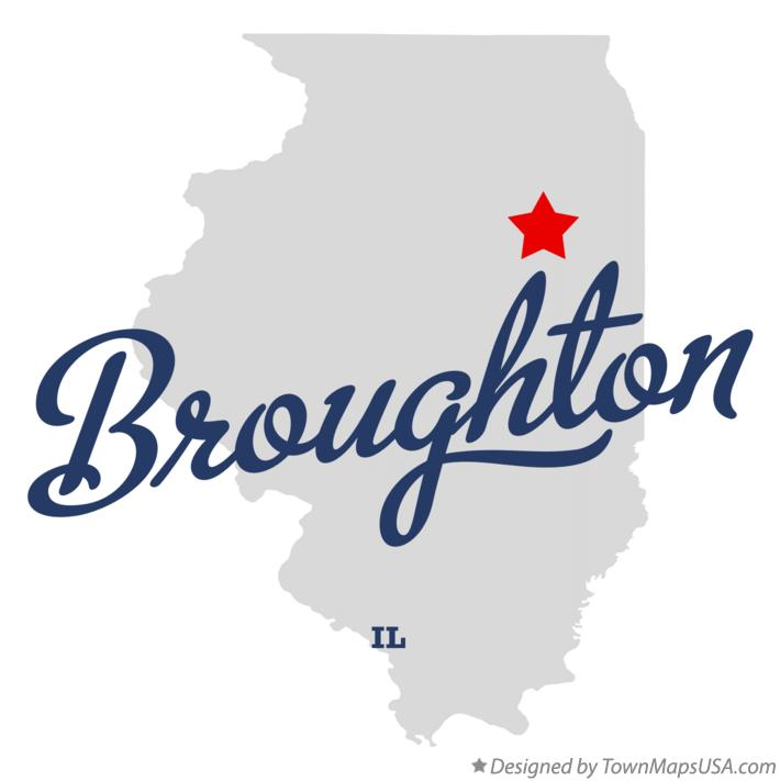 Map of Broughton Illinois IL