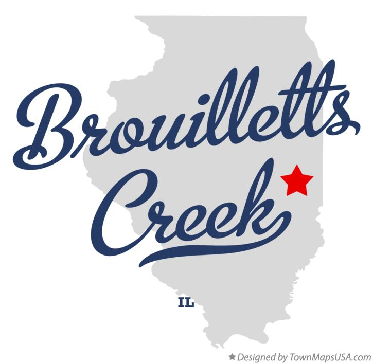 Map of Brouilletts Creek Illinois IL