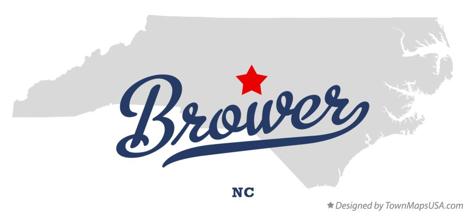 Map of Brower North Carolina NC