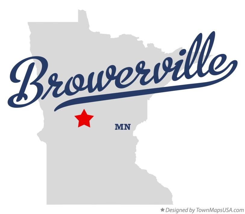 Map of Browerville Minnesota MN