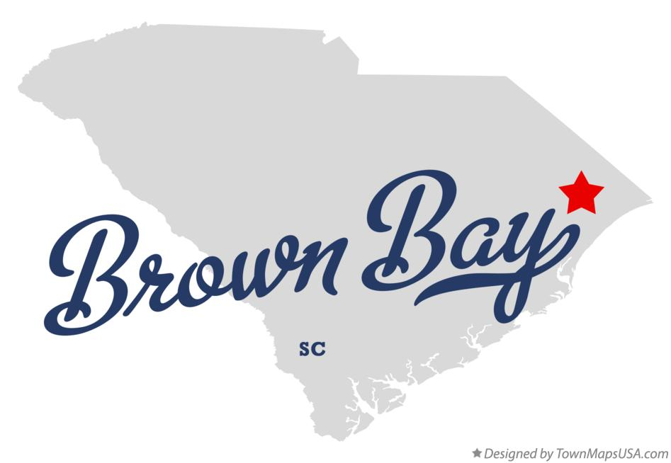 Map of Brown Bay South Carolina SC