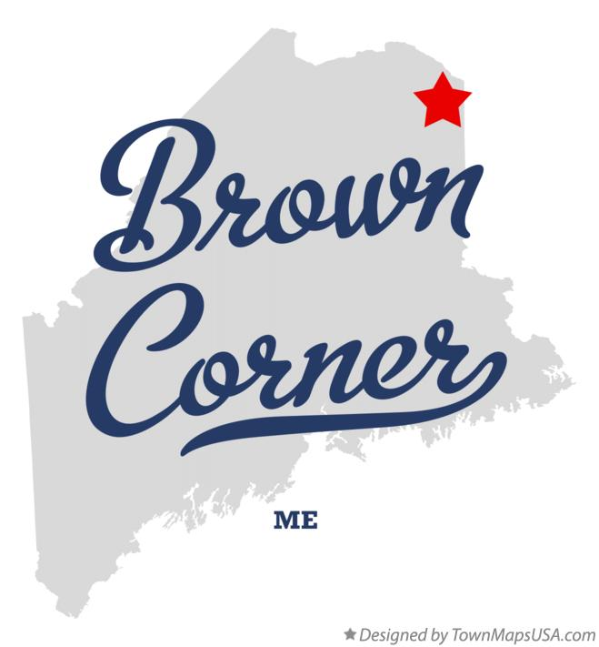 Map of Brown Corner Maine ME