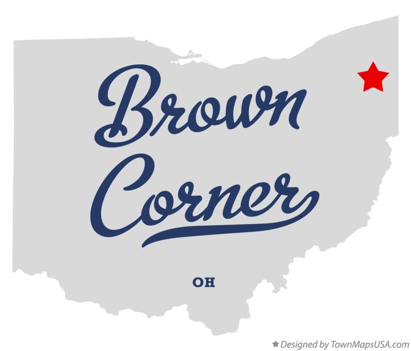 Map of Brown Corner Ohio OH