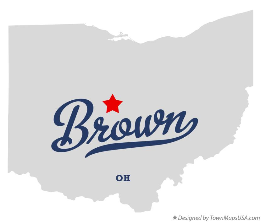 Map of Brown Ohio OH
