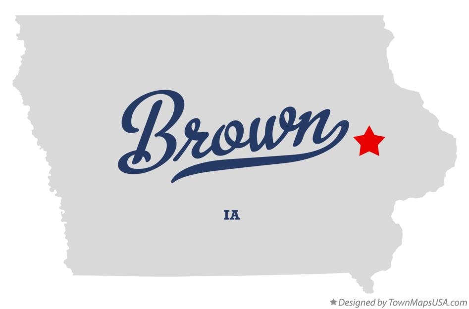 Map of Brown Iowa IA