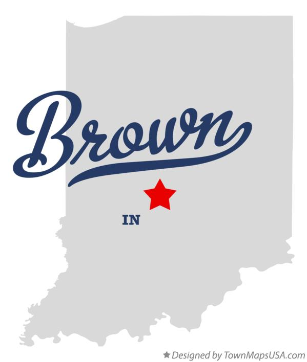 Map of Brown Indiana IN