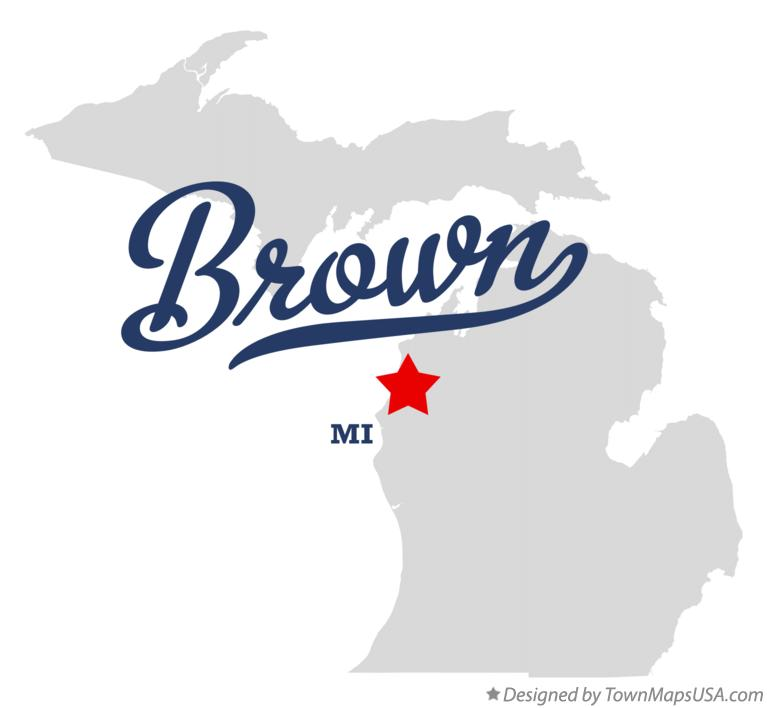 Map of Brown Michigan MI