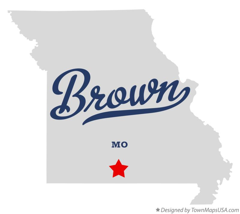 Map of Brown Missouri MO