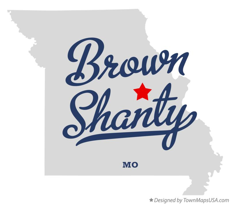 Map of Brown Shanty Missouri MO