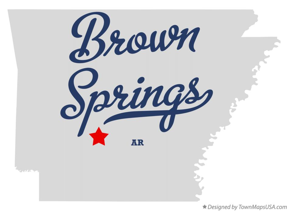 Map of Brown Springs Arkansas AR