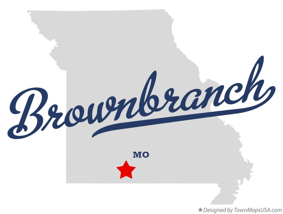Map of Brownbranch Missouri MO