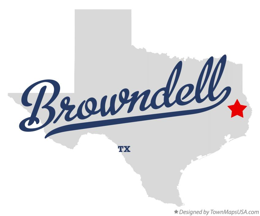 Map of Browndell Texas TX
