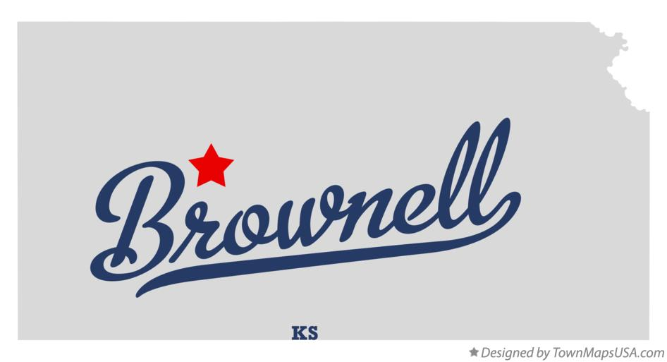 Map of Brownell Kansas KS