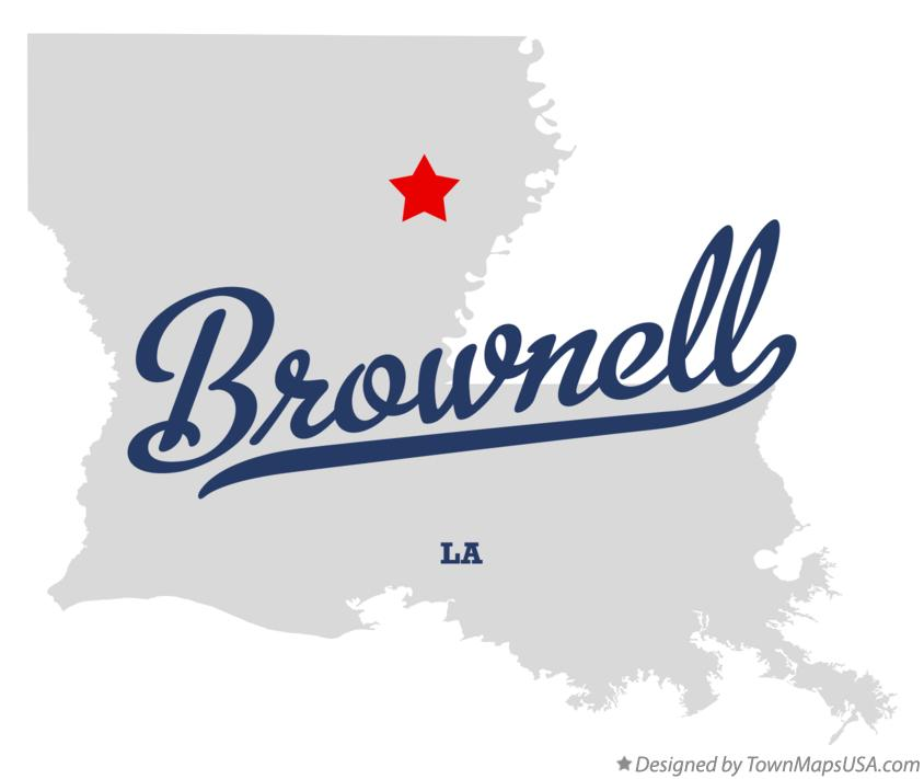 Map of Brownell Louisiana LA