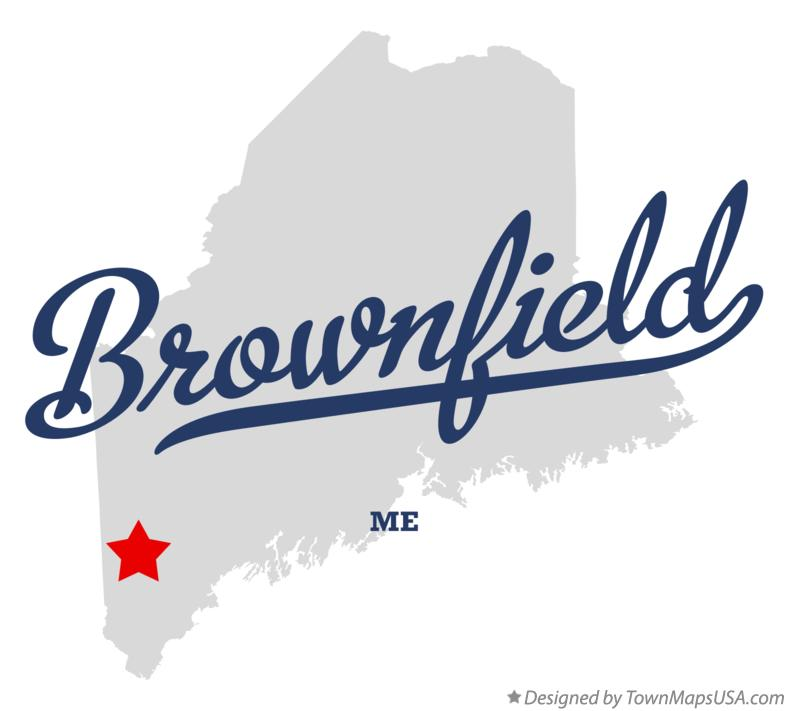 Map of Brownfield Maine ME