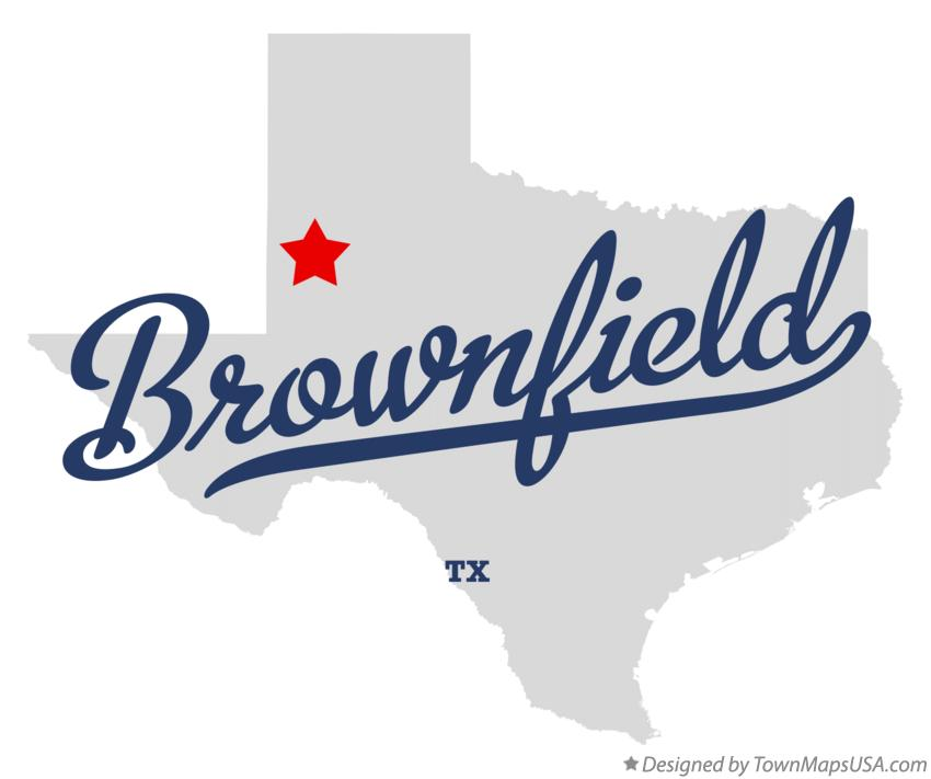 Map of Brownfield Texas TX