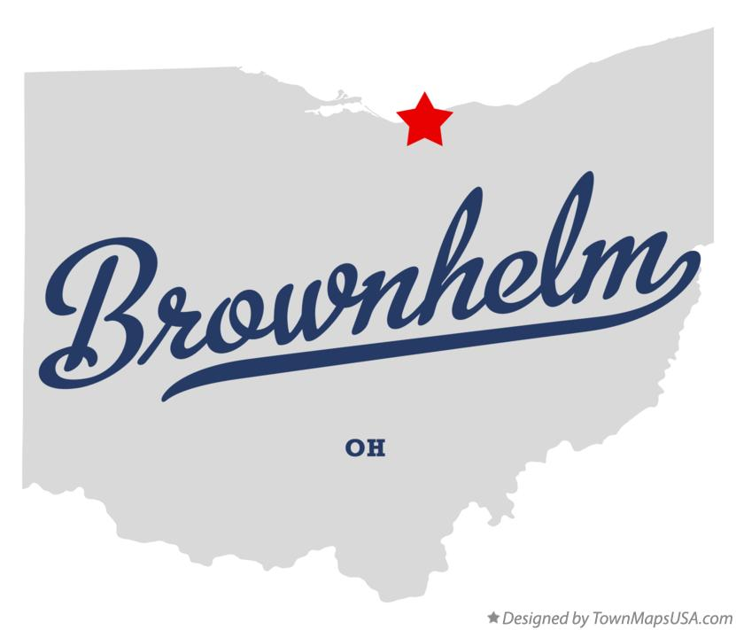 Map of Brownhelm Ohio OH