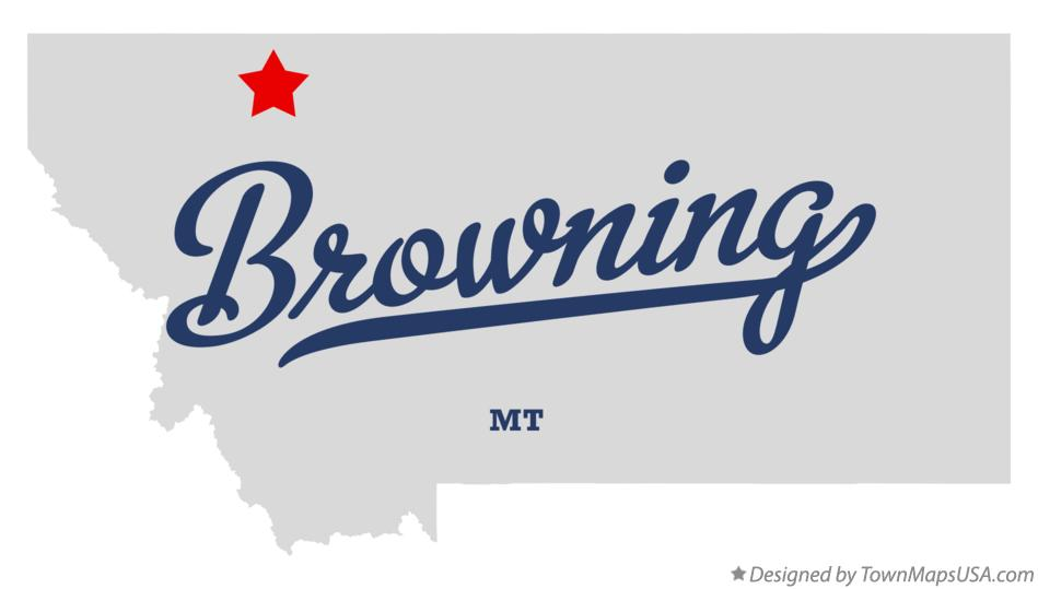 Map of Browning Montana MT