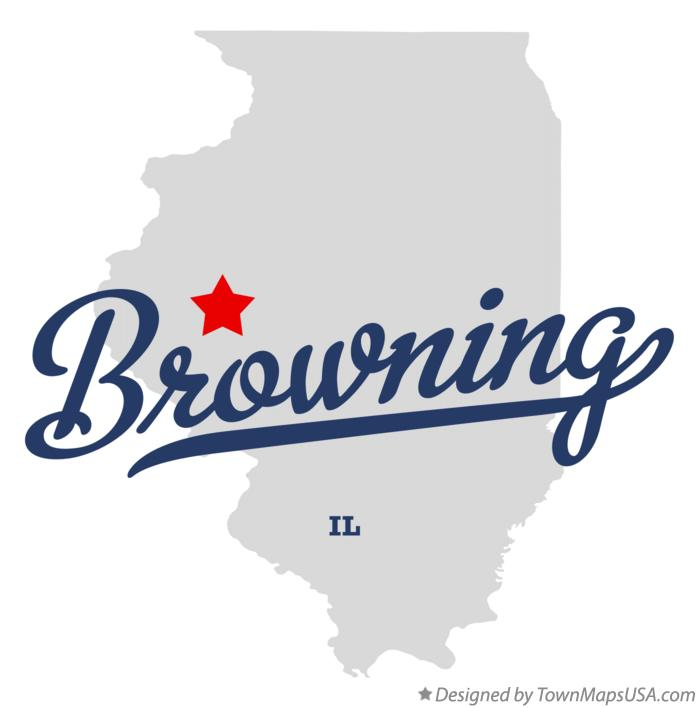 Map of Browning Illinois IL