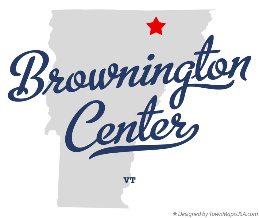 Map of Brownington Center Vermont VT