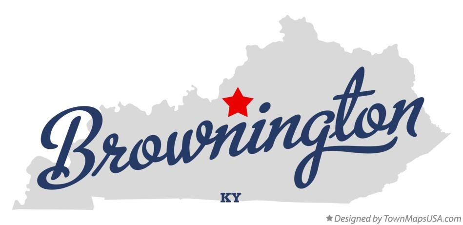 Map of Brownington Kentucky KY