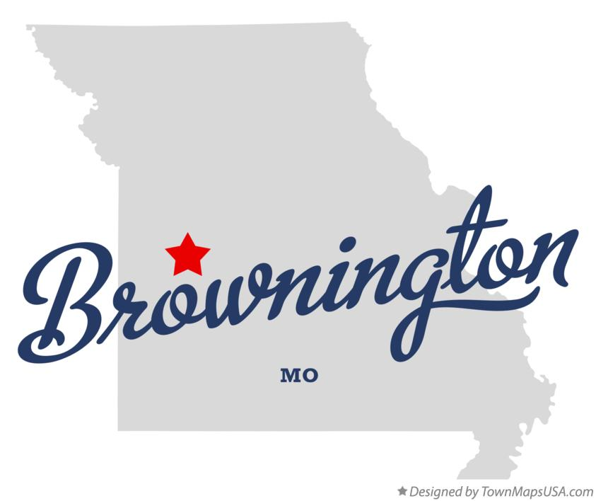 Map of Brownington Missouri MO