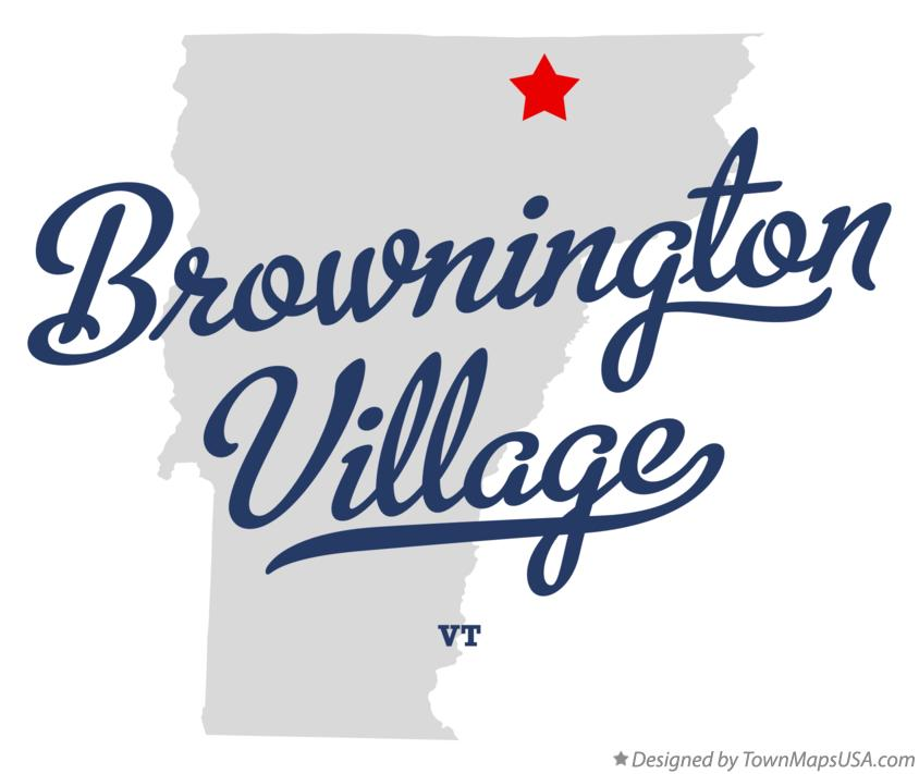 Map of Brownington Village Vermont VT