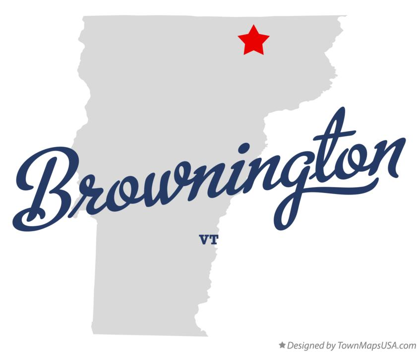 Map of Brownington Vermont VT