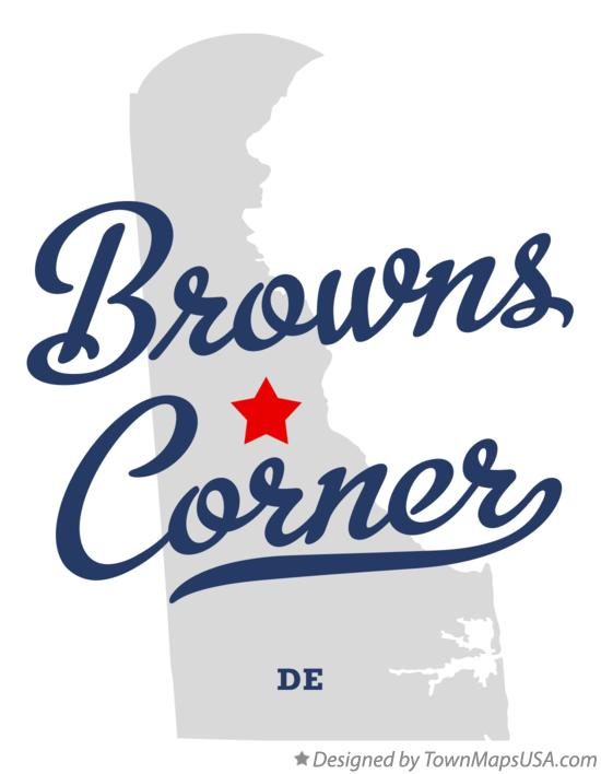Map of Browns Corner Delaware DE