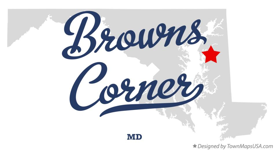 Map of Browns Corner Maryland MD