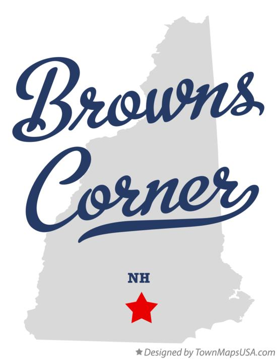 Map of Browns Corner New Hampshire NH