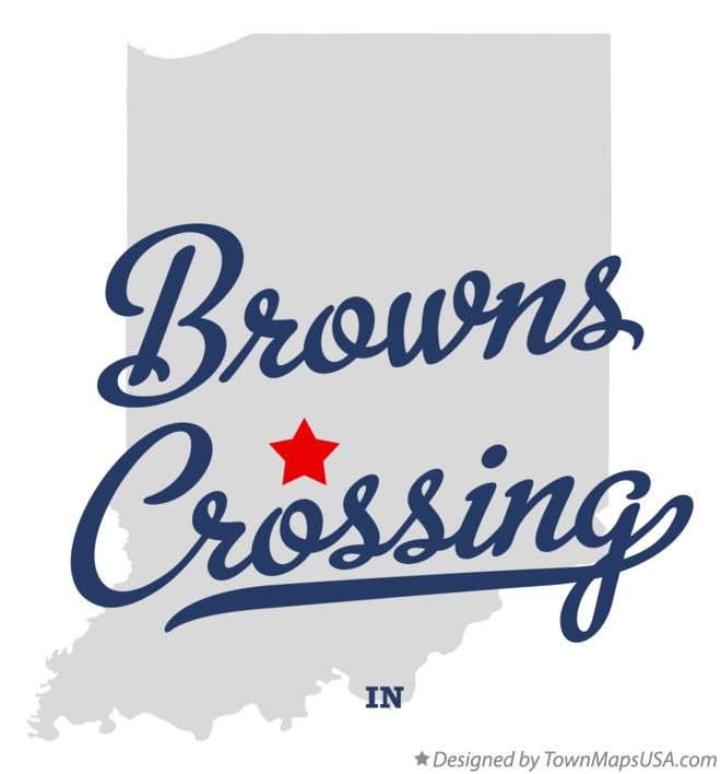 Map of Browns Crossing Indiana IN