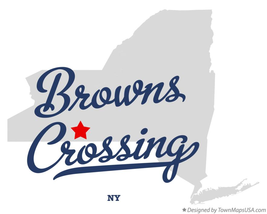 Map of Browns Crossing New York NY