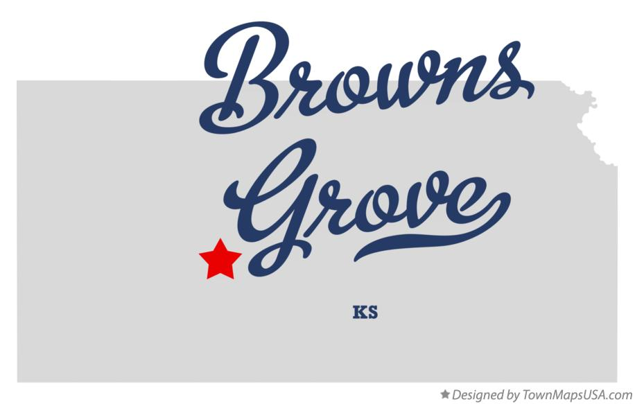 Map of Browns Grove Kansas KS