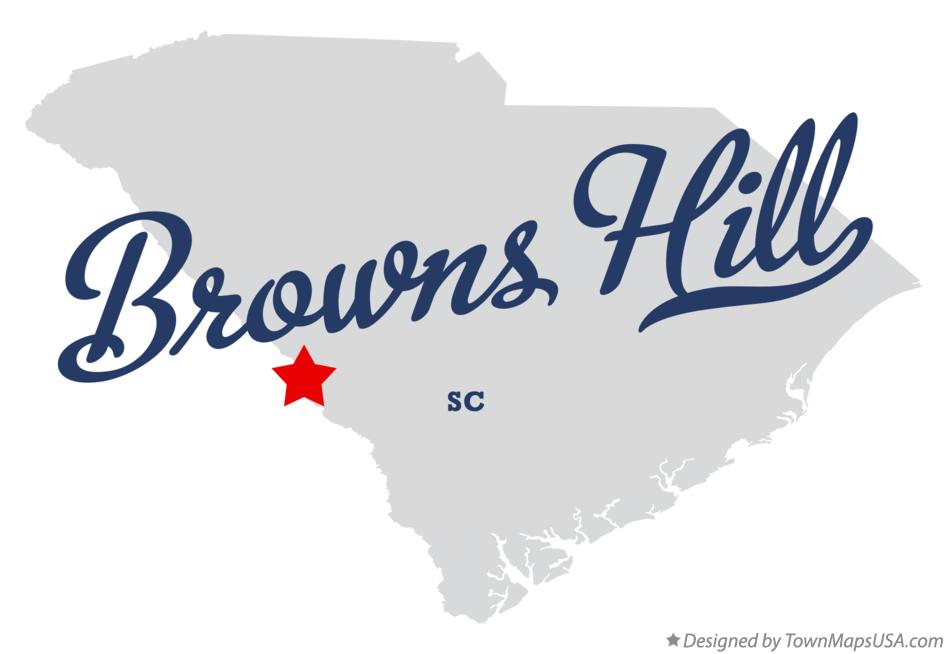 Map of Browns Hill South Carolina SC