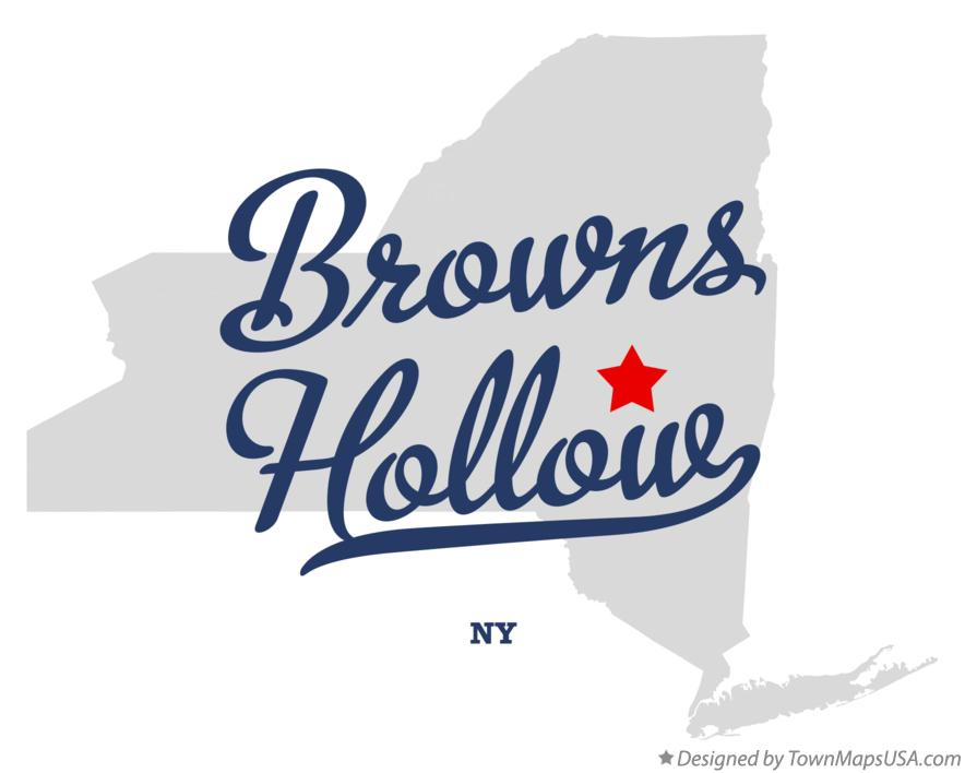 Map of Browns Hollow New York NY