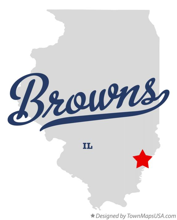 Map of Browns Illinois IL