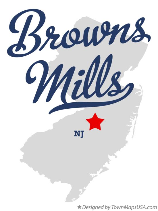 Map of Browns Mills New Jersey NJ