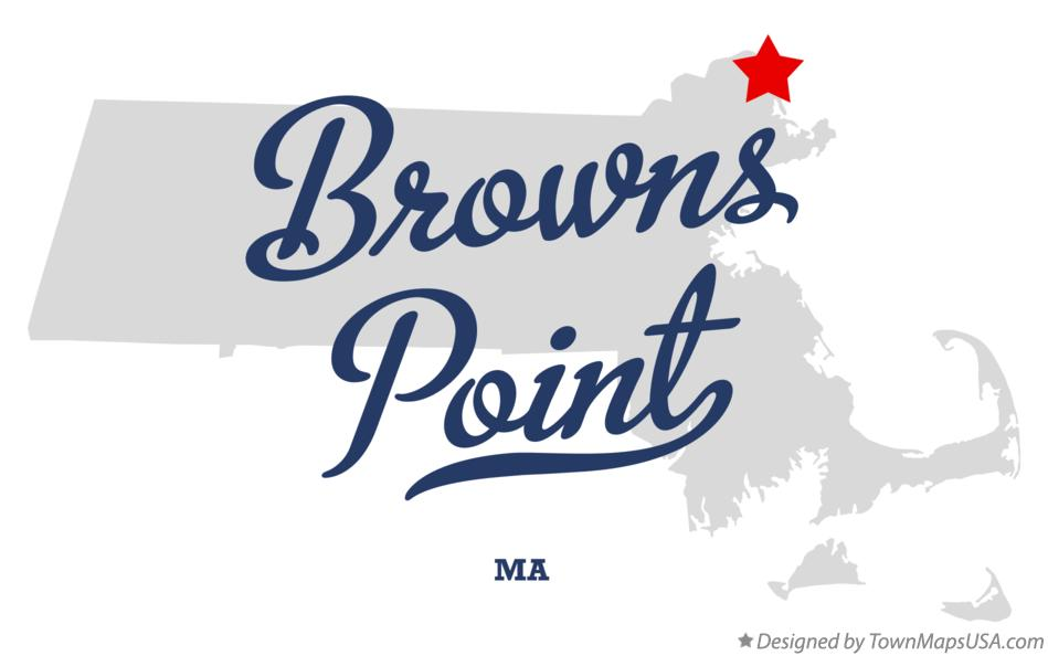 Map of Browns Point Massachusetts MA