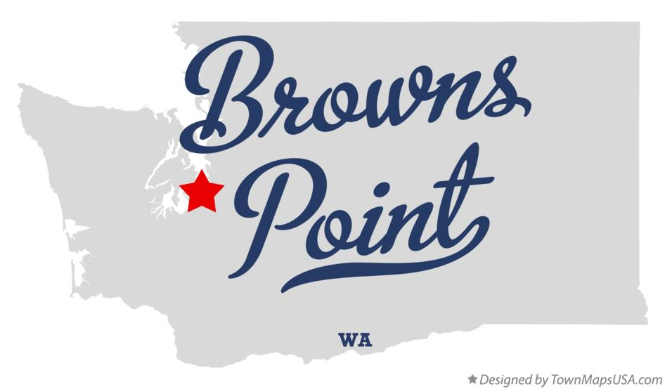 Map of Browns Point Washington WA