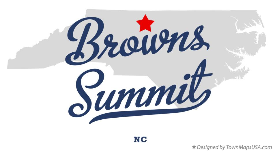 Map of Browns Summit North Carolina NC