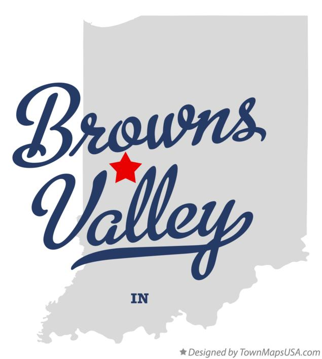 Map of Browns Valley Indiana IN