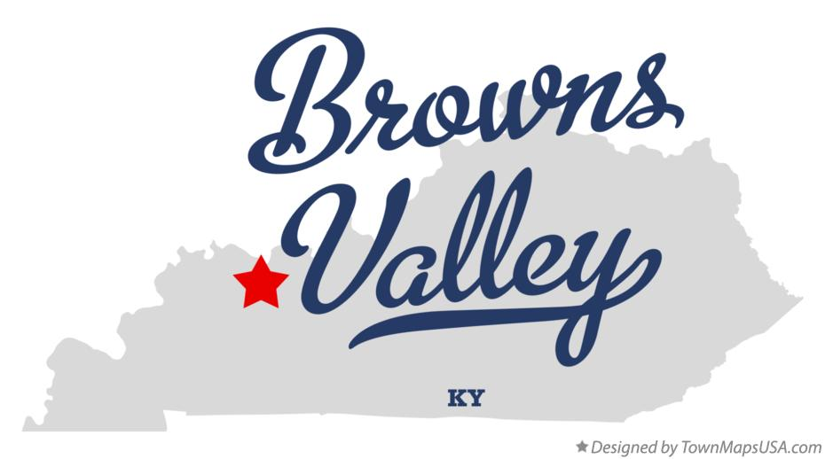 Map of Browns Valley Kentucky KY