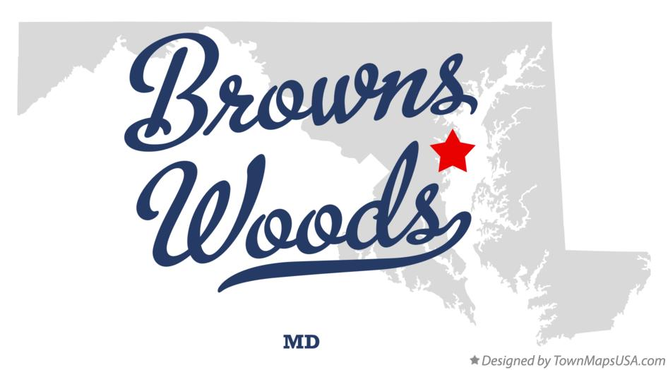Map of Browns Woods Maryland MD