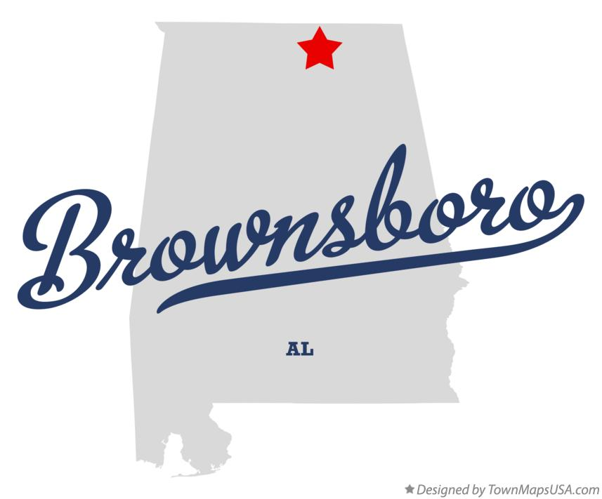 Map of Brownsboro Alabama AL