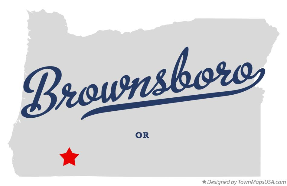 Map of Brownsboro Oregon OR