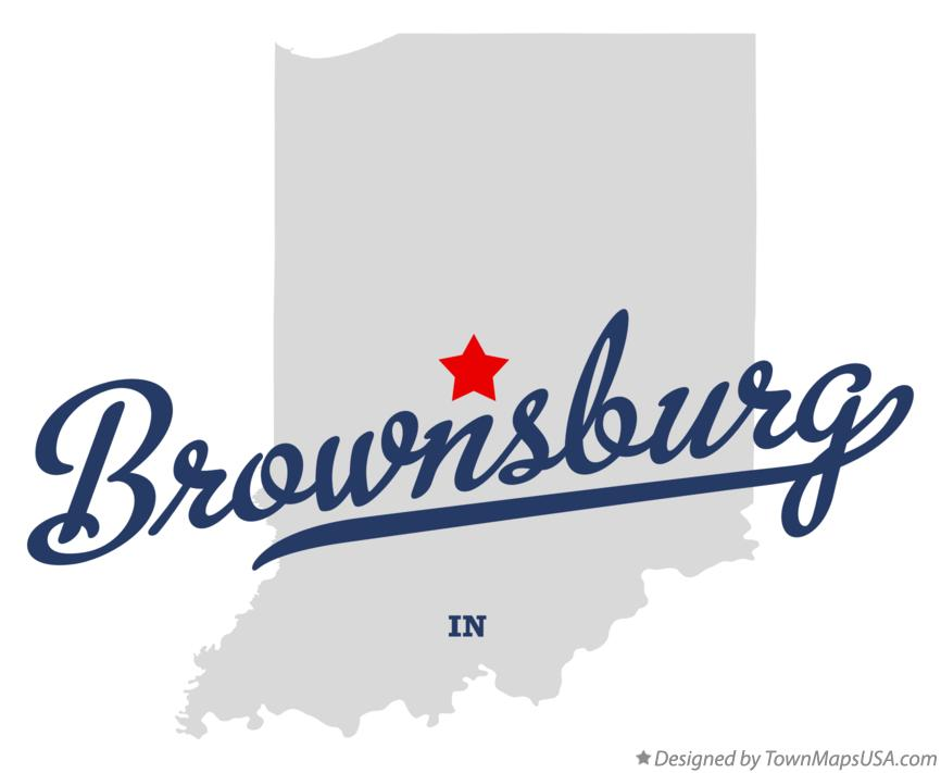 Map of Brownsburg Indiana IN